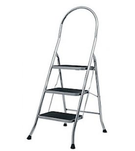 Abru 3 Tread Chrome Step Stool