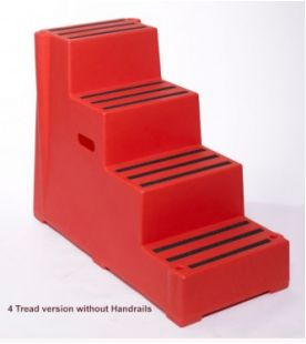 Excelsior 4 Tread Premium Heavy Duty Plastic Step without Handrail