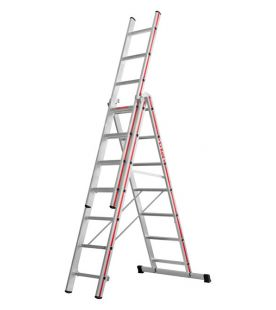 Hymer Red Line Triple Section Combination Ladder