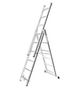 Hymer Black Line Triple Section Combination Ladder With Fixed Stabiliser Bar