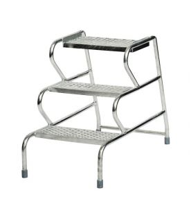 GPC 3 Step Fort Stable Step Galvanized Finish Without Handrail