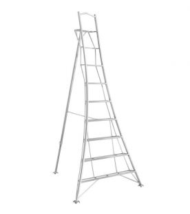 Henchman 2.70m / 9 Tread Platform Tripod Ladder - Fully 3 Leg Adjustable