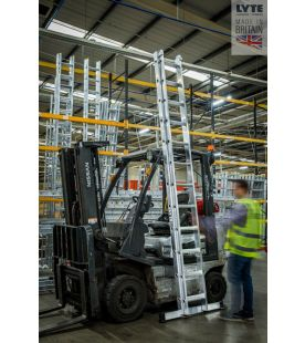 Lyte  Double Section Industrial Professional Extension Ladder