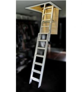 Ramsay 2.54m 2 Section Aluminium Loft Ladder