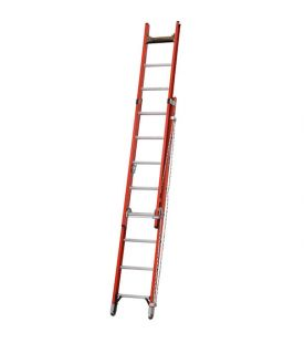 Werner Double Section Utility Fibreglass Extension Ladder Rope Operated