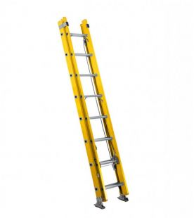 Werner Double Section Fibreglass Trade Extension Ladder Rope Operated