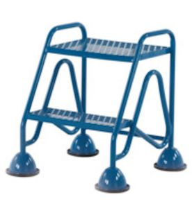 GPC 2 Tread Fort Mobile Domed Feet Step with Mesh Tread Without Handrail