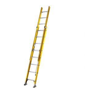 Youngman S200 Double Fibreglass Extension Rope-Operated Ladder