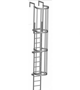 Zarges Fixed Ladders - Roof Access with Hoop