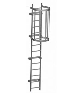 Zarges Fixed Ladders - Roof Hatch with Hoops