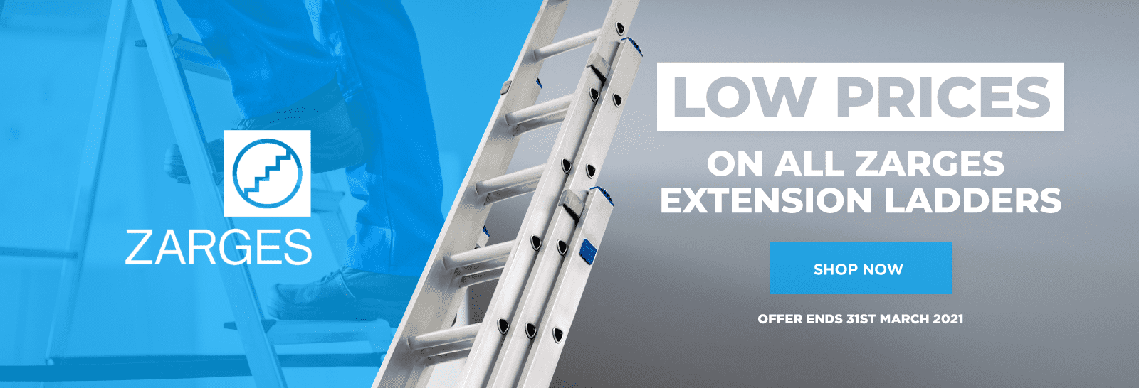 Low Prices On All Zarges Extension Ladders