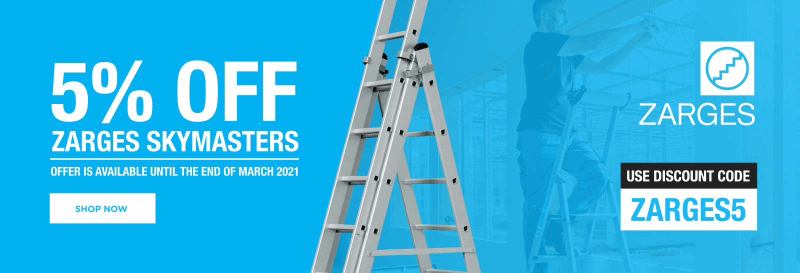 5% Off Zarges Skymaster Ladders