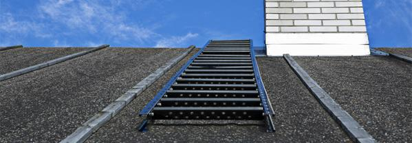 Safe use of roof ladders
