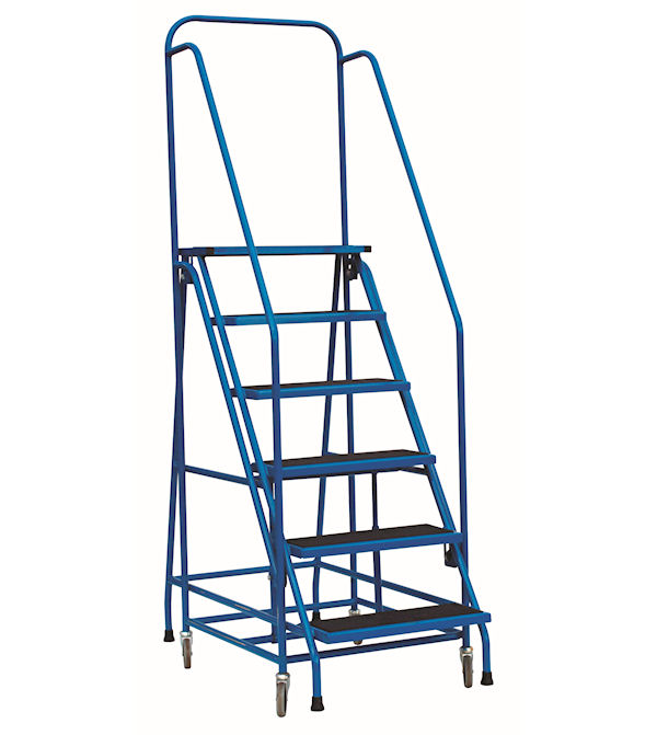 Easy action steel mobile safety step