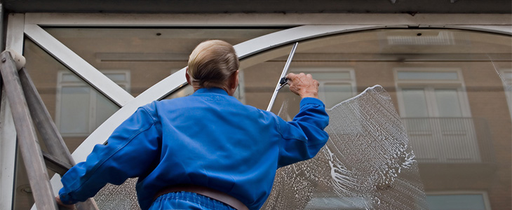 Access equipment for window cleaners